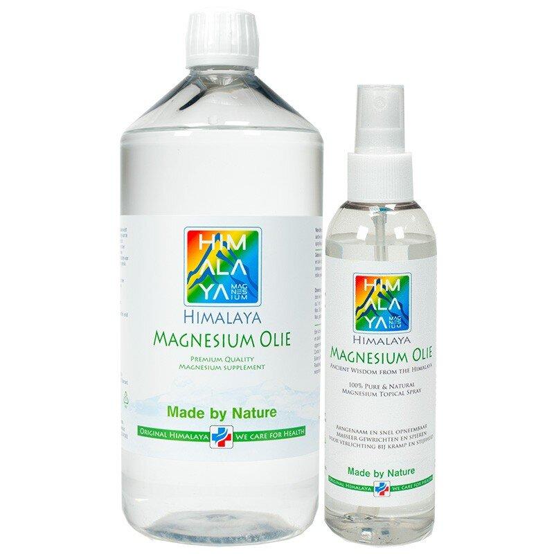 1000 ml en 200 ml himalaya magnesium olie